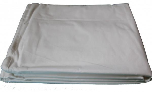 klassisches Betttuch, 150 x 250 cm, weiß, ohne Gummizug, Haustuch, Bettlaken, Baumwoll Mischgewebe,