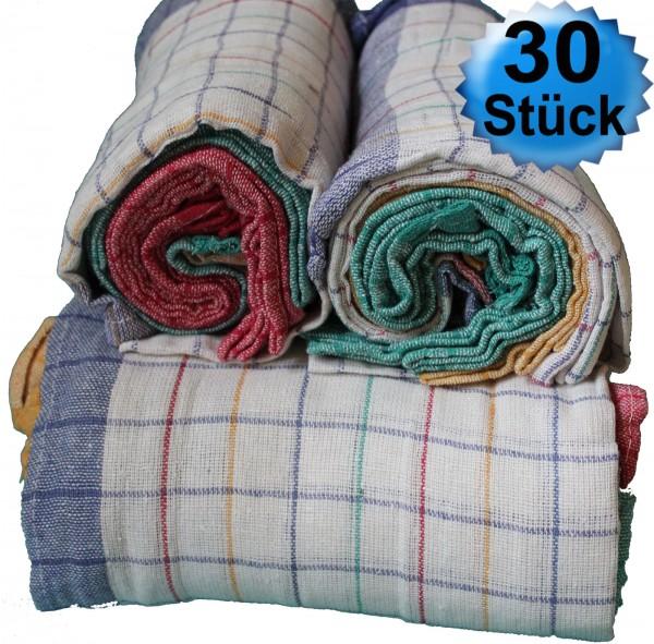 30x Baumwoll Geschirrtücher, Geschirrtuch, Trockentuch, 45 x 70 cm, 100% Baumwolle, als 10er Rolle