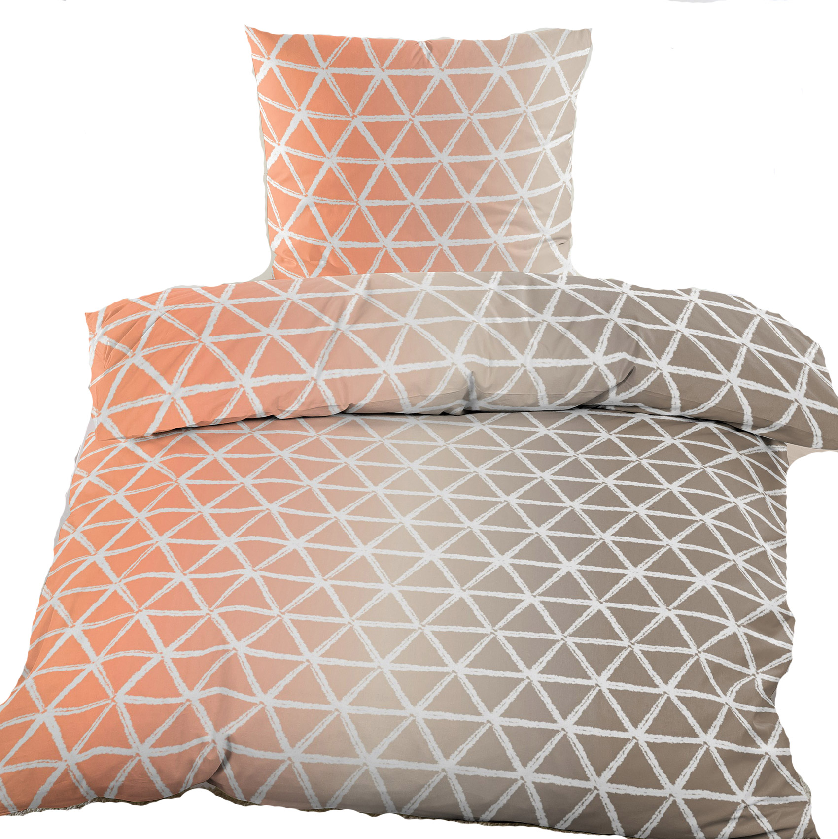 biber winter bettw sche 135 x 200 80x80 cm 100 baumwolle dreiecke kh haushaltshandel. Black Bedroom Furniture Sets. Home Design Ideas