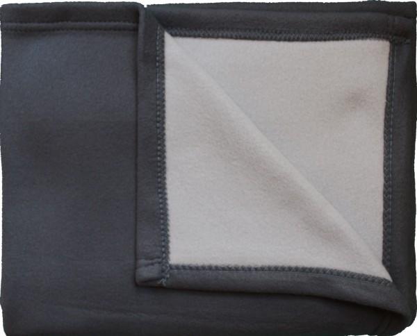 Cashmere Touch Wende Wohndecke 150x200cm, grau silber Kuscheldecke Sofadecke