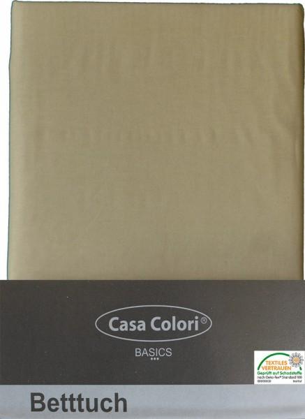 klassisches Haustuch, Betttuch, Bettlaken, OHNE Spanngummi, 150x250 cm, Farbe: natur-beige, 100% Bau
