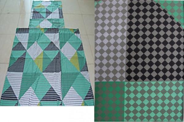 Sommer Bettwäsche, 135 x 200 + 80x80cm multicolor kariert, Microfaser
