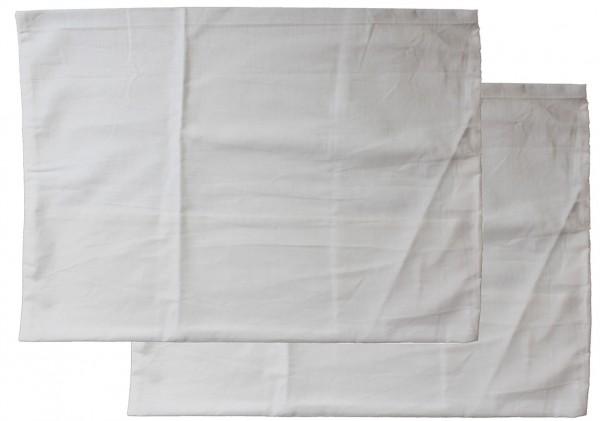 2er Pg. Kopfkissenbezug 60 x 80 cm Kochfest, Hotelverschluß, weiß, Linon, 95 Grad Wäsche, Kissenhüll
