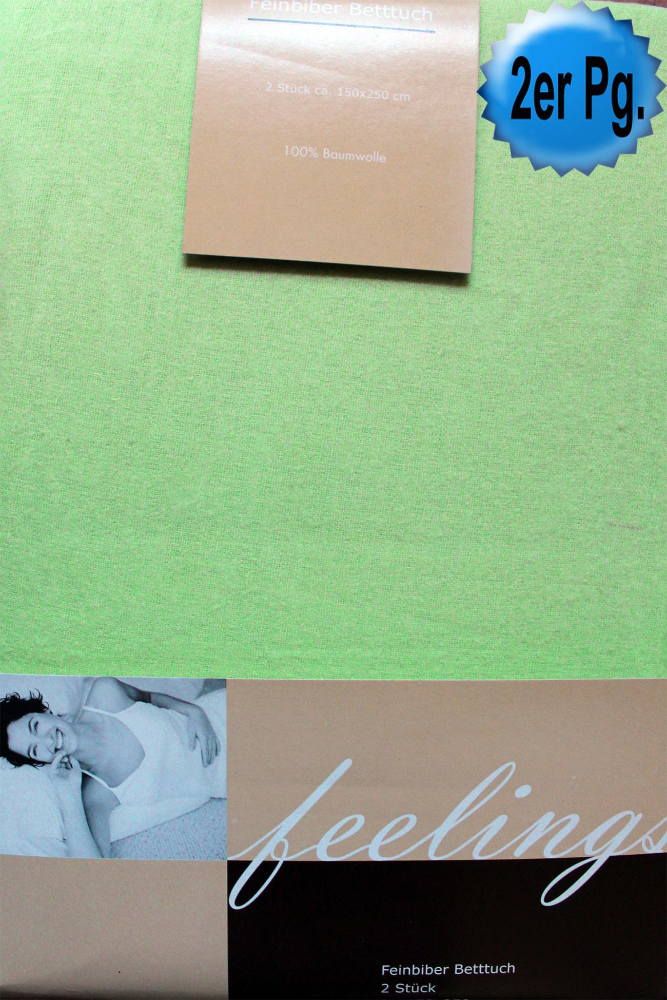 2er pg klassisches baumwoll biber haustuch betttuch bettlaken ohne spanngummi 150x250 cm. Black Bedroom Furniture Sets. Home Design Ideas
