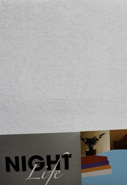 FROTTEE Stretch Spannbetttuch,180-200 x 200 cm, Spannbettlaken Baumwoll Mischgewebe, Rundumgummi